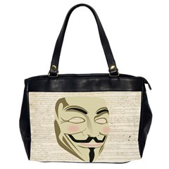 We The Anonymous People Oversize Office Handbag (Two Sides) by StuffOrSomething
