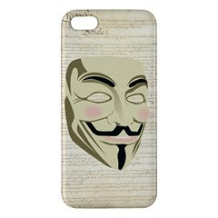 We The Anonymous People Apple Iphone 5 Premium Hardshell Case by StuffOrSomething