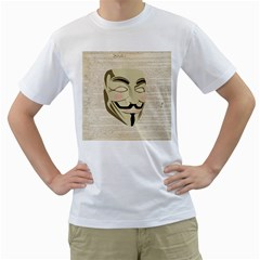 We The Anonymous People Men s T Shirt (white)  by StuffOrSomething