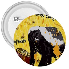 Honeybadgersnack 3  Button by BlueVelvetDesigns