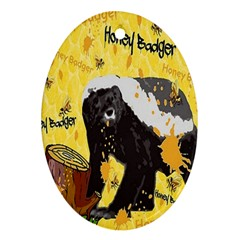 Honeybadgersnack Oval Ornament by BlueVelvetDesigns