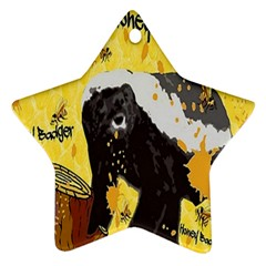 Honeybadgersnack Star Ornament by BlueVelvetDesigns