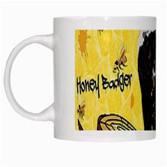 Honeybadgersnack White Coffee Mug by BlueVelvetDesigns