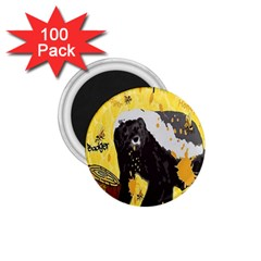 Honeybadgersnack 1 75  Button Magnet (100 Pack) by BlueVelvetDesigns