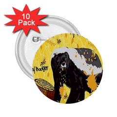 Honeybadgersnack 2 25  Button (10 Pack) by BlueVelvetDesigns