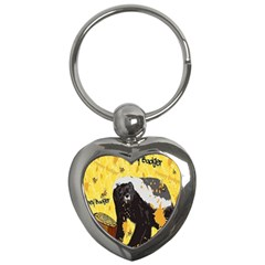 Honeybadgersnack Key Chain (heart) by BlueVelvetDesigns