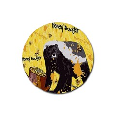 Honeybadgersnack Drink Coasters 4 Pack (round) by BlueVelvetDesigns