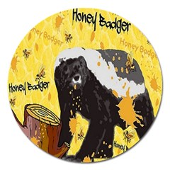 Honeybadgersnack Magnet 5  (round) by BlueVelvetDesigns
