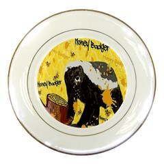 Honeybadgersnack Porcelain Display Plate by BlueVelvetDesigns