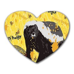 Honeybadgersnack Mouse Pad (Heart) by BlueVelvetDesigns
