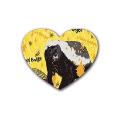 Honeybadgersnack Drink Coasters (heart) by BlueVelvetDesigns
