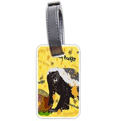 Honeybadgersnack Luggage Tag (one Side) by BlueVelvetDesigns