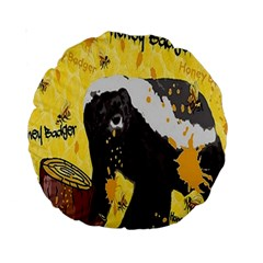 Honeybadgersnack 15  Premium Round Cushion  by BlueVelvetDesigns
