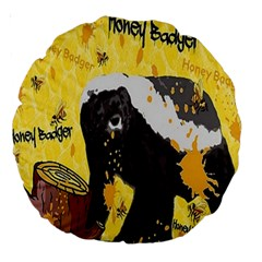 Honeybadgersnack 18  Premium Round Cushion  by BlueVelvetDesigns