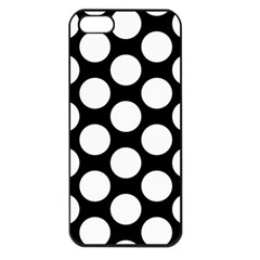 Black And White Polkadot Apple iPhone 5 Seamless Case (Black) by Zandiepants
