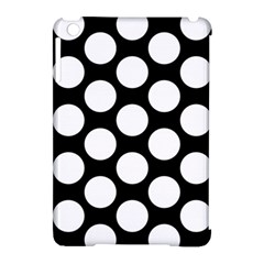 Black And White Polkadot Apple iPad Mini Hardshell Case (Compatible with Smart Cover) by Zandiepants