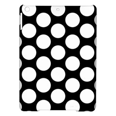 Black And White Polkadot Apple iPad Air Hardshell Case by Zandiepants