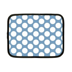 Blue Polkadot Netbook Sleeve (small) by Zandiepants