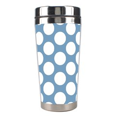 Blue Polkadot Stainless Steel Travel Tumbler by Zandiepants
