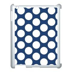Dark Blue Polkadot Apple Ipad 3/4 Case (white) by Zandiepants
