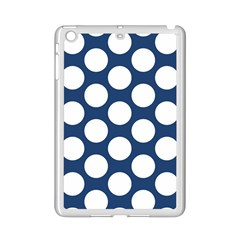 Dark Blue Polkadot Apple Ipad Mini 2 Case (white) by Zandiepants
