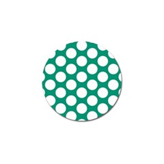 Emerald Green Polkadot Golf Ball Marker 4 Pack by Zandiepants