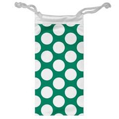 Emerald Green Polkadot Jewelry Bag by Zandiepants