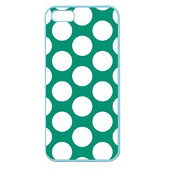 Emerald Green Polkadot Apple Seamless Iphone 5 Case (color) by Zandiepants