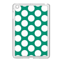 Emerald Green Polkadot Apple Ipad Mini Case (white) by Zandiepants