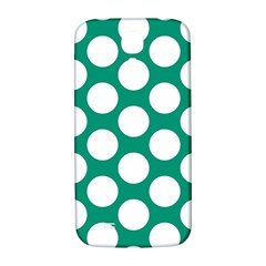 Emerald Green Polkadot Samsung Galaxy S4 I9500/i9505  Hardshell Back Case by Zandiepants
