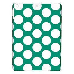 Emerald Green Polkadot Apple iPad Air Hardshell Case by Zandiepants