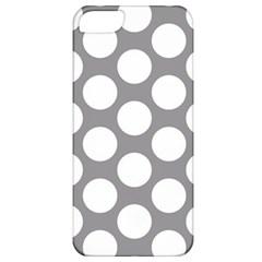 Grey Polkadot Apple Iphone 5 Classic Hardshell Case by Zandiepants