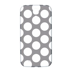 Grey Polkadot Samsung Galaxy S4 I9500/i9505  Hardshell Back Case by Zandiepants