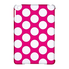Pink Polkadot Apple iPad Mini Hardshell Case (Compatible with Smart Cover) by Zandiepants