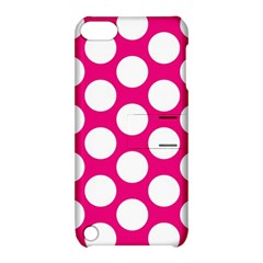 Pink Polkadot Apple Ipod Touch 5 Hardshell Case With Stand by Zandiepants