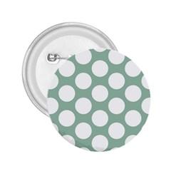 Jade Green Polkadot 2 25  Button