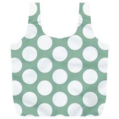 Jade Green Polkadot Reusable Bag (xl) by Zandiepants