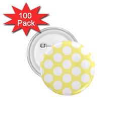 Yellow Polkadot 1 75  Button (100 Pack) by Zandiepants