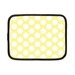 Yellow Polkadot Netbook Sleeve (small) by Zandiepants