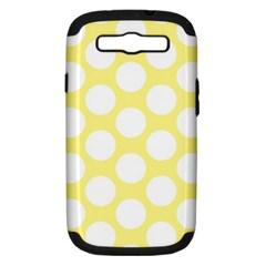 Yellow Polkadot Samsung Galaxy S Iii Hardshell Case (pc+silicone) by Zandiepants
