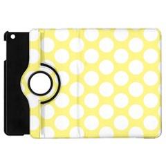 Yellow Polkadot Apple Ipad Mini Flip 360 Case by Zandiepants