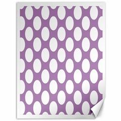Lilac Polkadot Canvas 36  X 48  (unframed) by Zandiepants