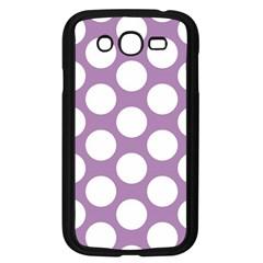 Lilac Polkadot Samsung Galaxy Grand Duos I9082 Case (black) by Zandiepants