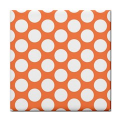 Orange Polkadot Face Towel by Zandiepants