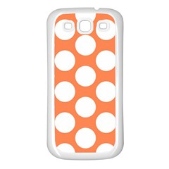 Orange Polkadot Samsung Galaxy S3 Back Case (white)
