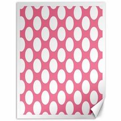 Pink Polkadot Canvas 36  X 48  (unframed) by Zandiepants