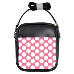 Pink Polkadot Girl s Sling Bag by Zandiepants