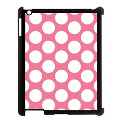 Pink Polkadot Apple Ipad 3/4 Case (black) by Zandiepants