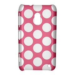 Pink Polkadot Nokia Lumia 620 Hardshell Case by Zandiepants