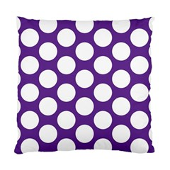 Purple Polkadot Cushion Case (single Sided)  by Zandiepants